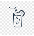 mojito concept linear icon isolated on vector image