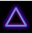 Neon abstract triangle vector image vector image