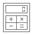 online calculator thin line icon finance banking vector image vector image