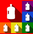 plastic bottle silhouette sign set of vector image