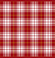 red and yellow tartan plaid seamless pattern vector image vector image