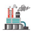 refinery plant industrial factory building vector image vector image