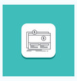 round button for crowdfunding funding fundraising vector image