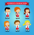 School kids student study cartoon
