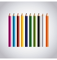 set colors pencils icon vector image