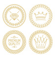 set linear badges - premium quality and best vector image vector image