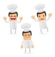 set of funny cartoon chef vector image