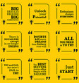 Set of motivational quotes about potential vector image vector image
