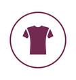 short sleeve t-shirt icon vector image