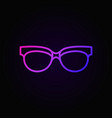 spectacles linear colored icon sunglasses vector image vector image