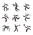 sport fitness expressive icons vector image vector image