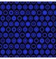 Star and circle seamless pattern vector image