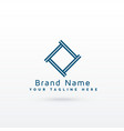 stylish gemetric logo concept vector image vector image
