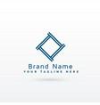stylish gemetric logo concept vector image