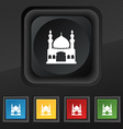 Turkish architecture mosque icon symbol Set of vector image