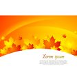 Wavy autumn background vector image