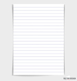 White paper ready for your message vector image vector image