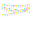 colorful realistic soft colorful flag garland vector image