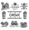 set of cinema labels and logos Isolated vector image
