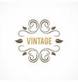 vintage swirl leaf logo vector image
