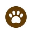 paw icon in circle filled flat sign vector image