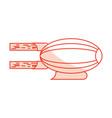 airship blimp cartoon vector image