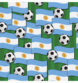 argentina football pattern vector image