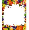autumn acorn leaf pumpkin harvest poster vector image vector image
