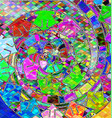 background with abstract image of variation color vector image