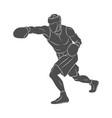 boxer man mixed martial arts fighter vector image vector image