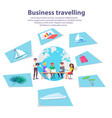 business travelling agency advertisement banner vector image