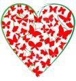 butterflies heart vector image vector image