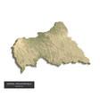 central african republic map - 3d digital