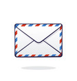 closed mail white envelope vector image