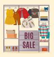 colored wardrobe poster vector image