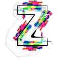 Colorful Font - Letter z vector image vector image