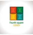 colorful mosaic logo vector image vector image