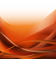 Colorful waves isolated abstract background orange vector image vector image