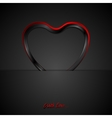 Contrast red black glossy heart background vector image