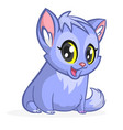 cute and funny cartoon cat vector image vector image