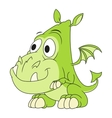 Cute dragon baby 2 vector image