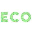 eco text mosaic of dots vector image vector image