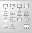 education school university thin line icon vector image vector image