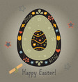 festive easter egg with cute egg inside from vector image