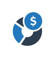 financial report icon vector image vector image