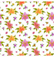 floral seamless background alstroemeria vector image
