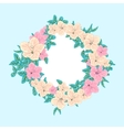 Flower in round frame vector image vector image