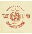 Garage service vintage tee design graphics Tire vector image vector image