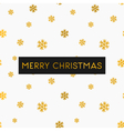 gold foil snowflakes white merry christmas card vector image
