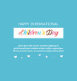 greeting card childrens day style vector image